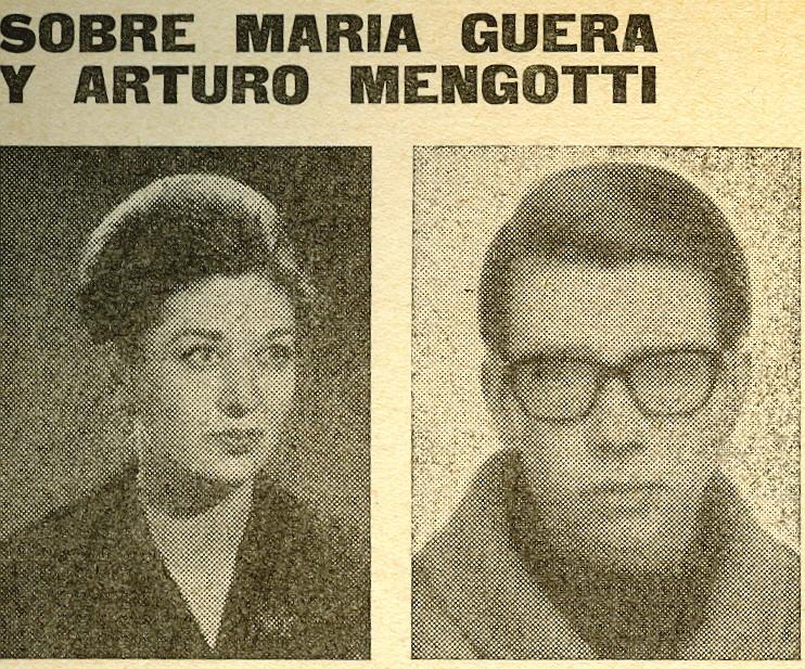 María Guera y Arturo Mengotti.